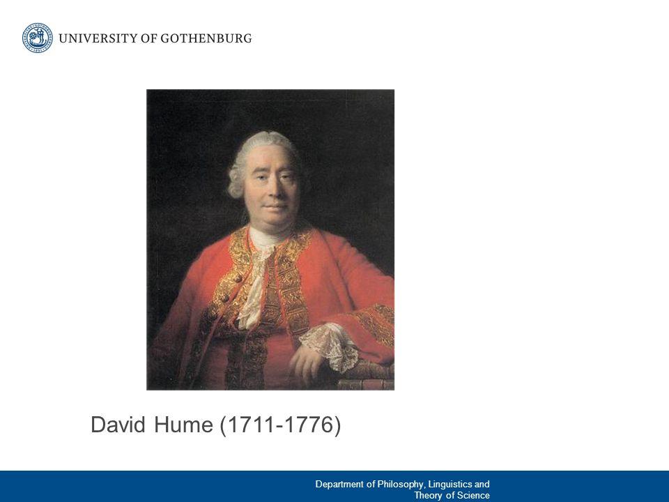 Humes allmänna filosofiska hållning Empirism: Vår ända källa till kunskap är våra sinnesintryck.