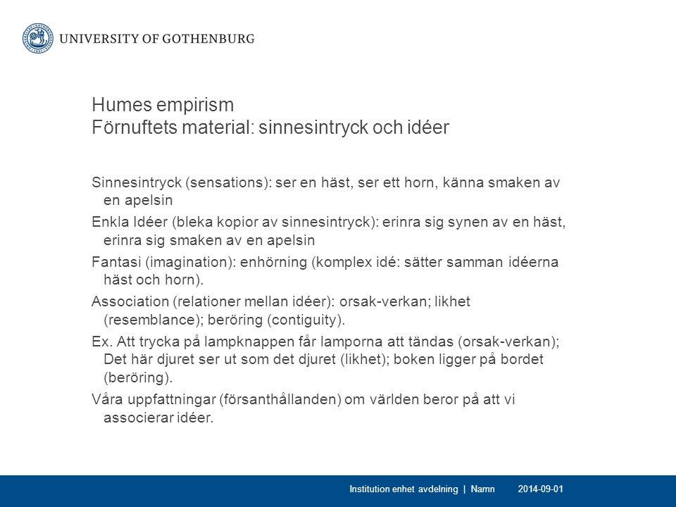 Några frågor att fundera över Var Hume utilitarist.