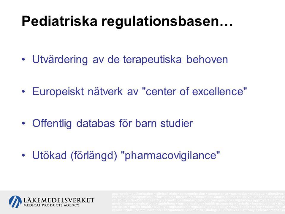 Pediatriska regulationsbasen… Utvärdering av de terapeutiska behoven Europeiskt nätverk av