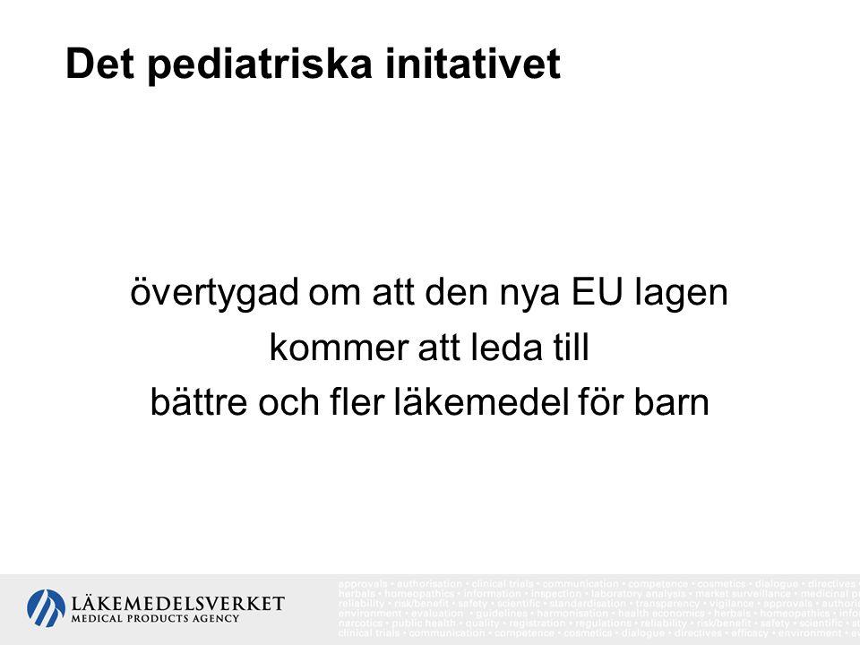 Det pediatriska initativet övertygad om att den nya EU lagen kommer att leda till bättre och fler läkemedel för barn