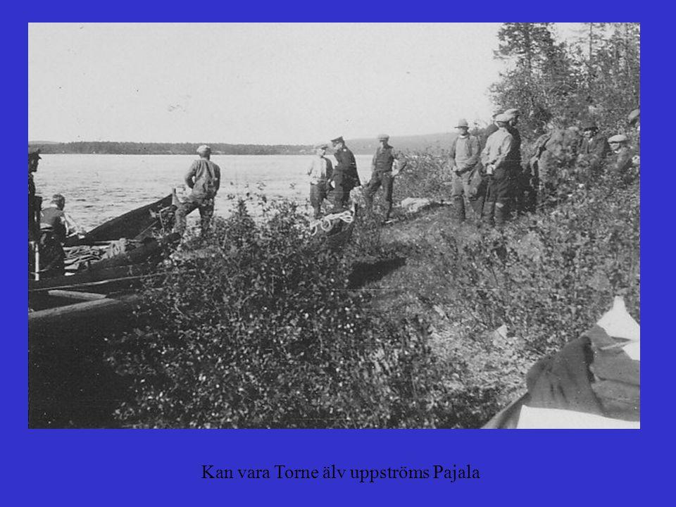 Kan vara Torne älv uppströms Pajala