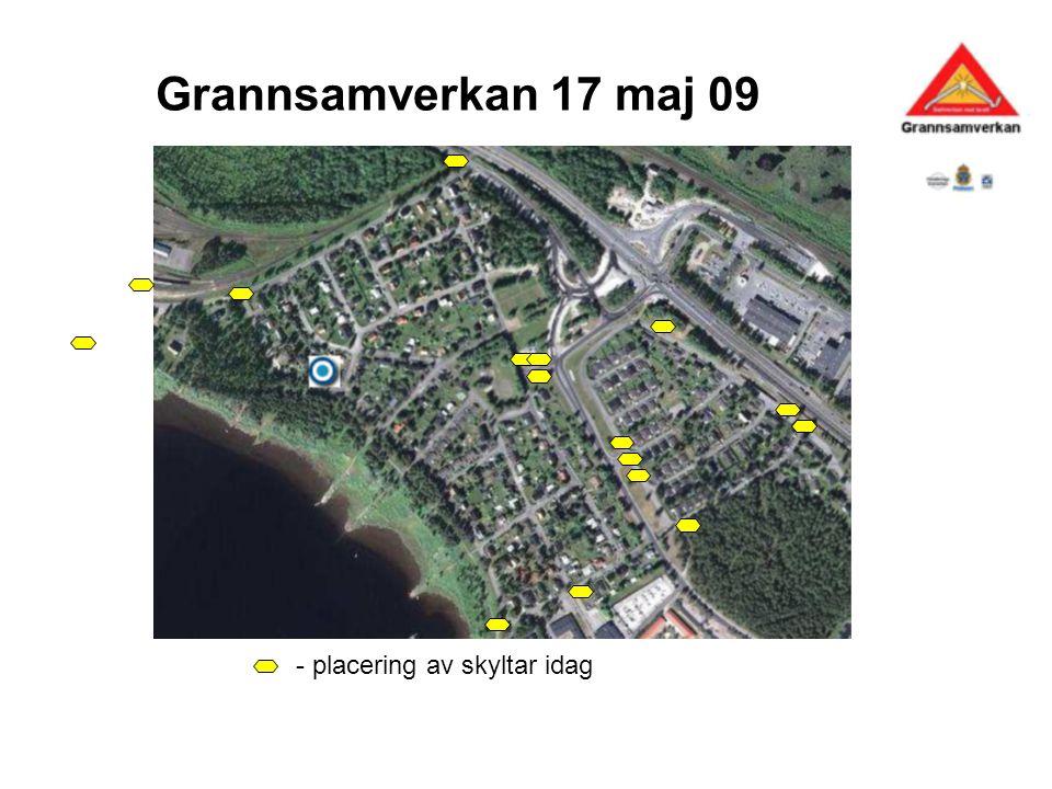 Grannsamverkan 17 maj 09 - placering av skyltar idag