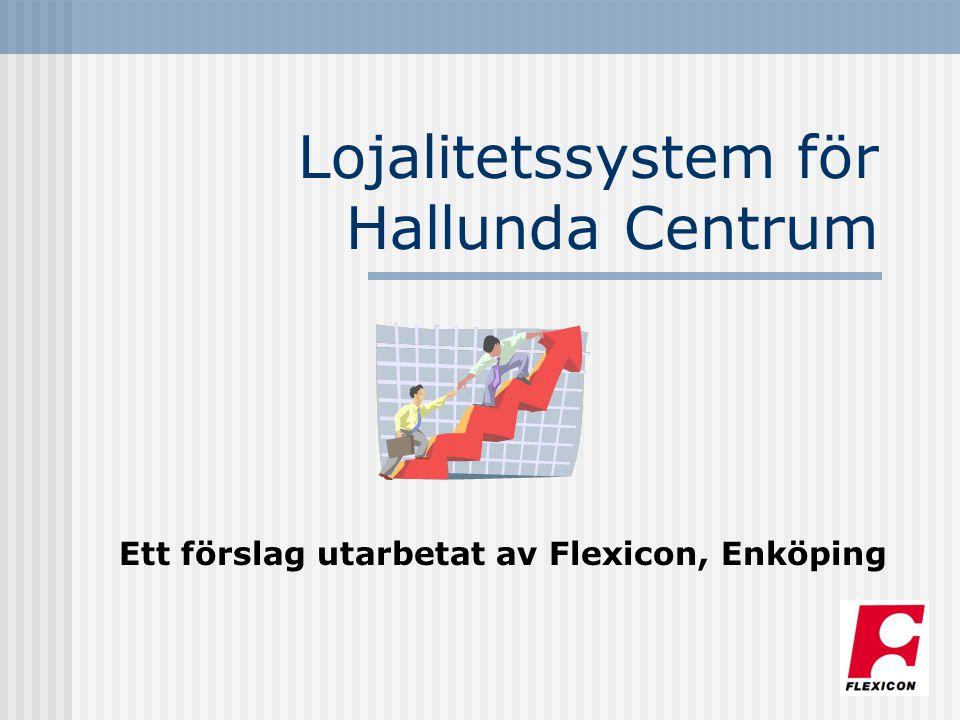 Lojalitetssystem för Hallunda Centrum Ett förslag utarbetat av Flexicon, Enköping