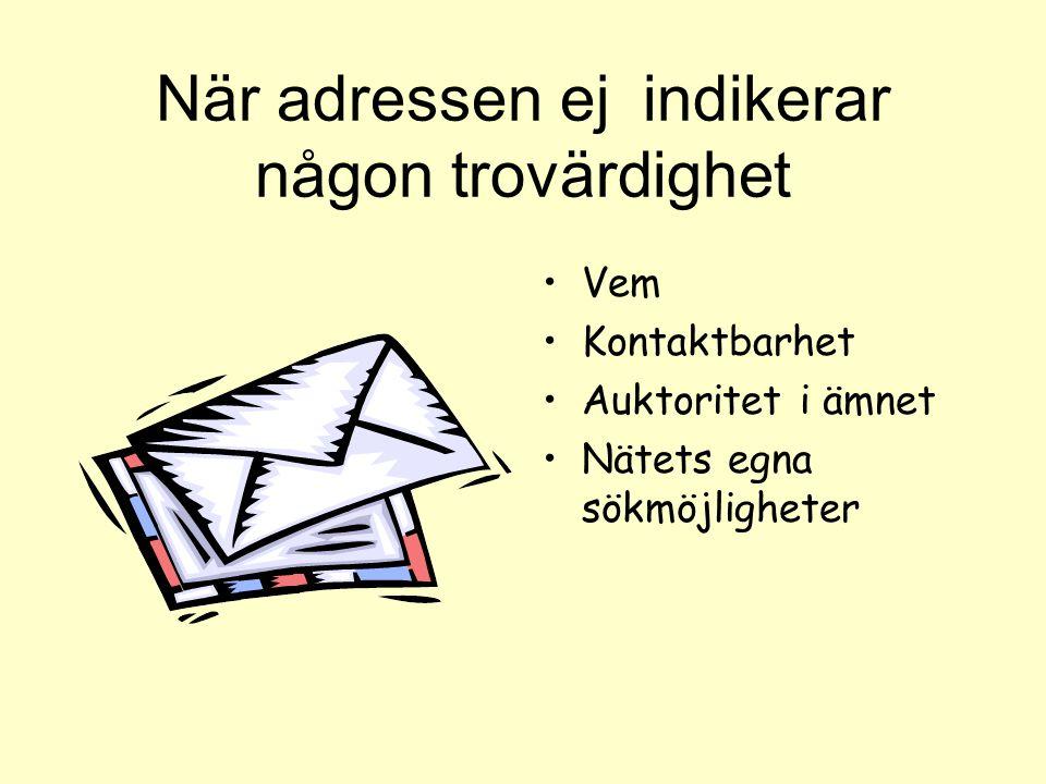Adressfönstret- Suffixen Expressen.se Regeringen.se. com.org.se.nu.gov
