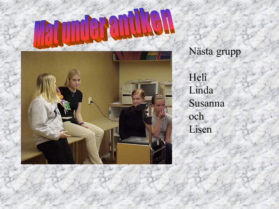 Nästa grupp Heli Linda Susanna och Lisen