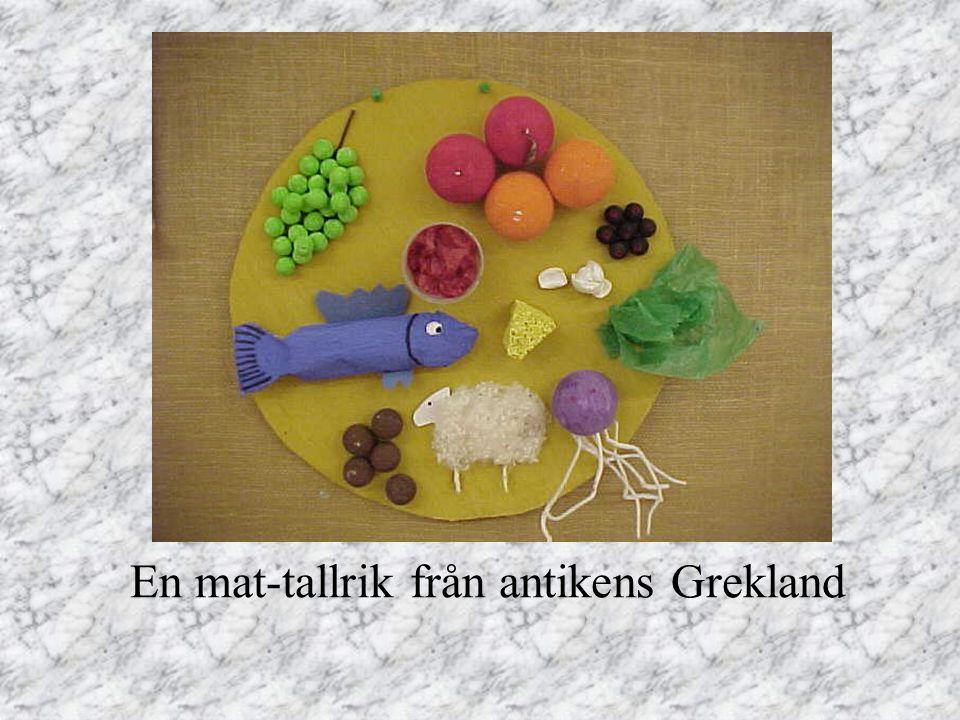 En mat-tallrik från antikens Grekland