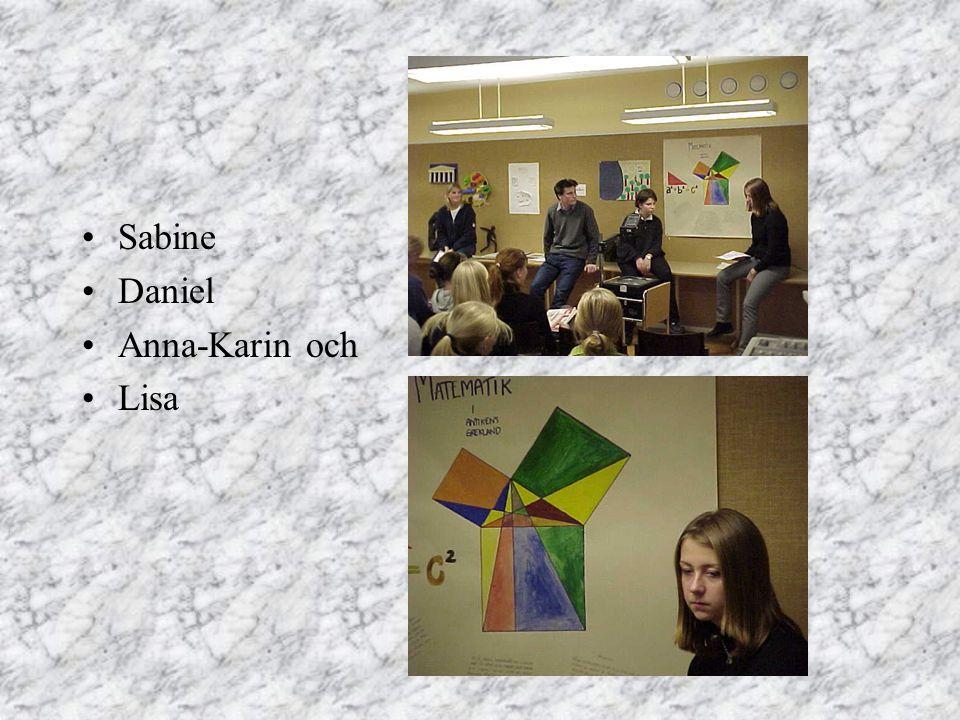 Sabine Daniel Anna-Karin och Lisa