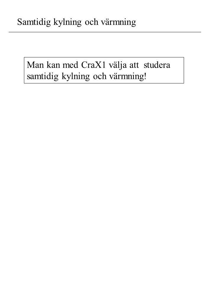 Samtidig kylning och värmning Man kan med CraX1 välja att studera samtidig kylning och värmning!