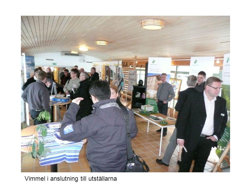 Thorbjörn Holmlund fikar efter sin presentation av projektet STOORN