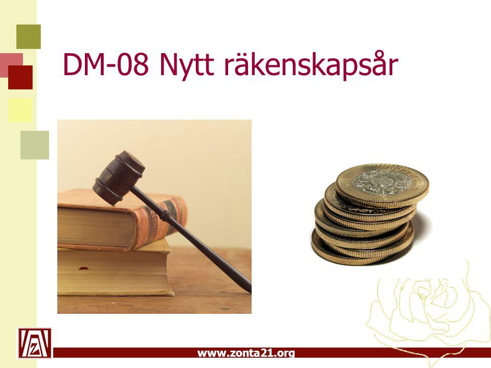 www.zonta21.org DM-08 Nytt räkenskapsår