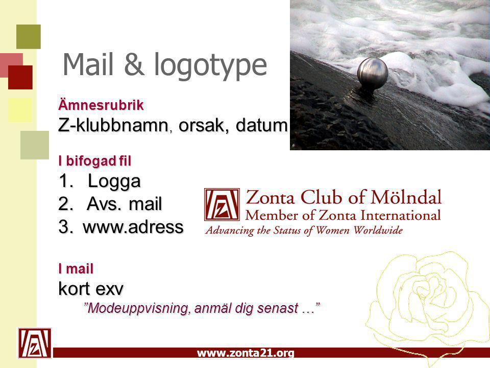 www.zonta21.org Media Pressmeddelanden  Korrekt brevhuvud  Logotype i färg  Avs.