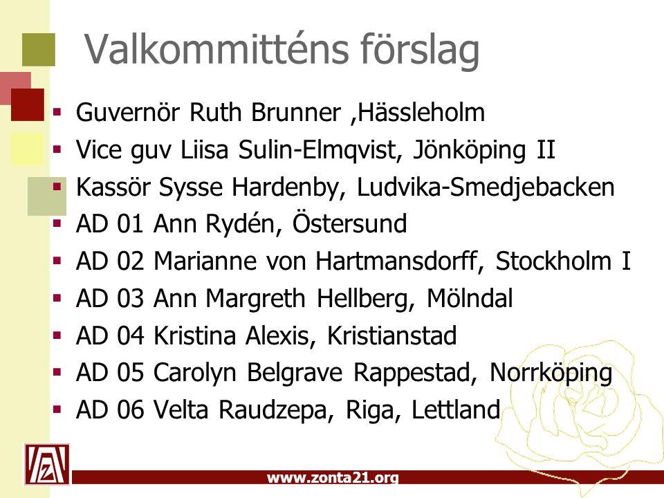 www.zonta21.org OMC – medlemskap vice guv Sysse Hardenby  D21 – Mål  Medlemskap area 06  Medlemsutveckling