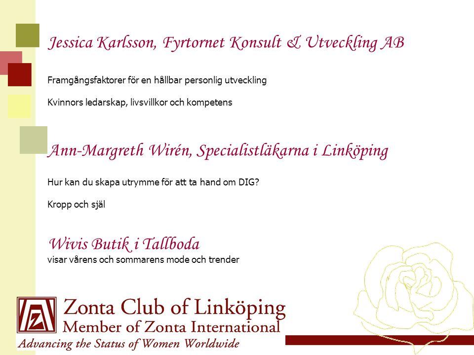 www.zonta21.org Jessica Karlsson, Fyrtornet Konsult & Utveckling AB Framgångsfaktorer för en hållbar personlig utveckling Kvinnors ledarskap, livsvill