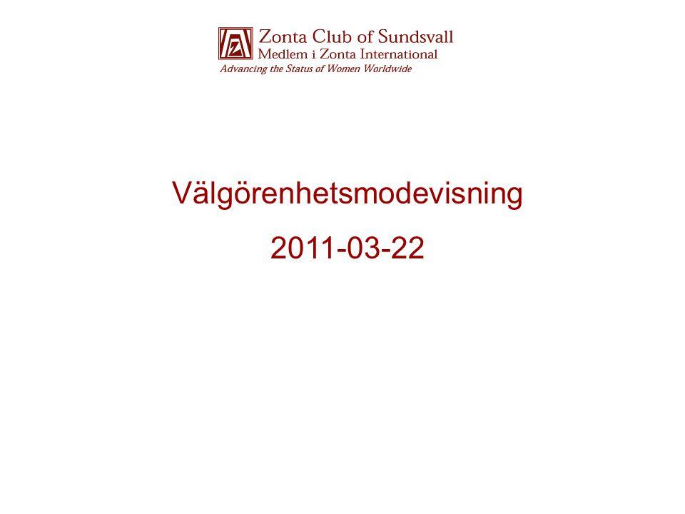 Modevisningens ordförande Birgitta hälsar välkommen till Zontas 18:e Modevisning.