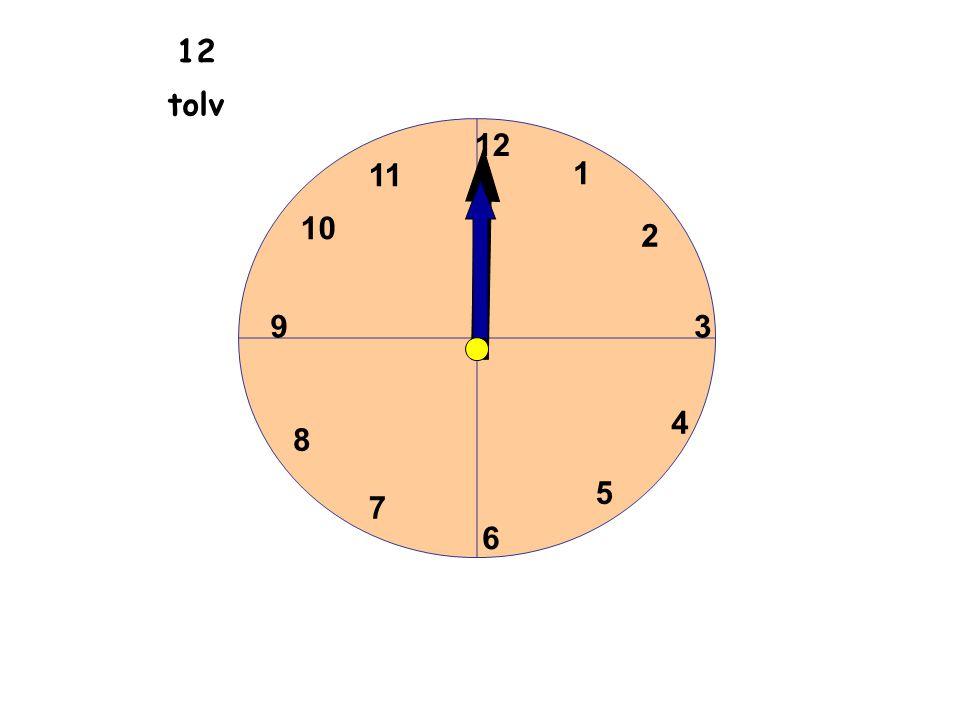 1 2 3 4 5 6 11 10 9 8 7 12 tolv