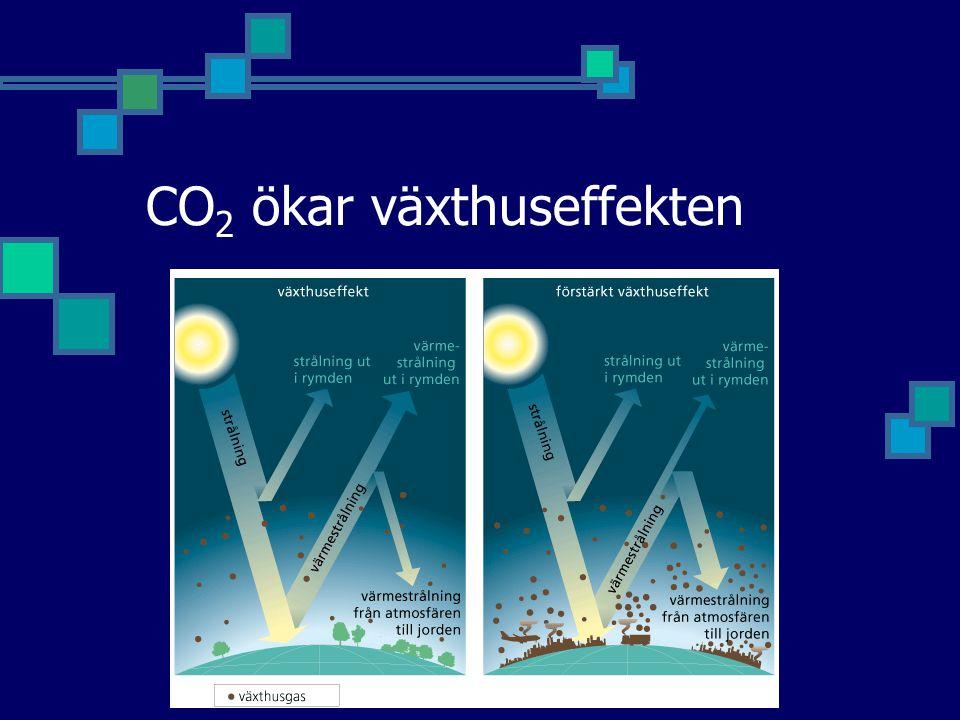 CO 2 ökar växthuseffekten