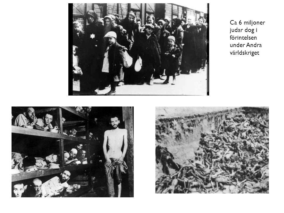 Ca 6 miljoner judar dog i förintelsen under Andra världskriget