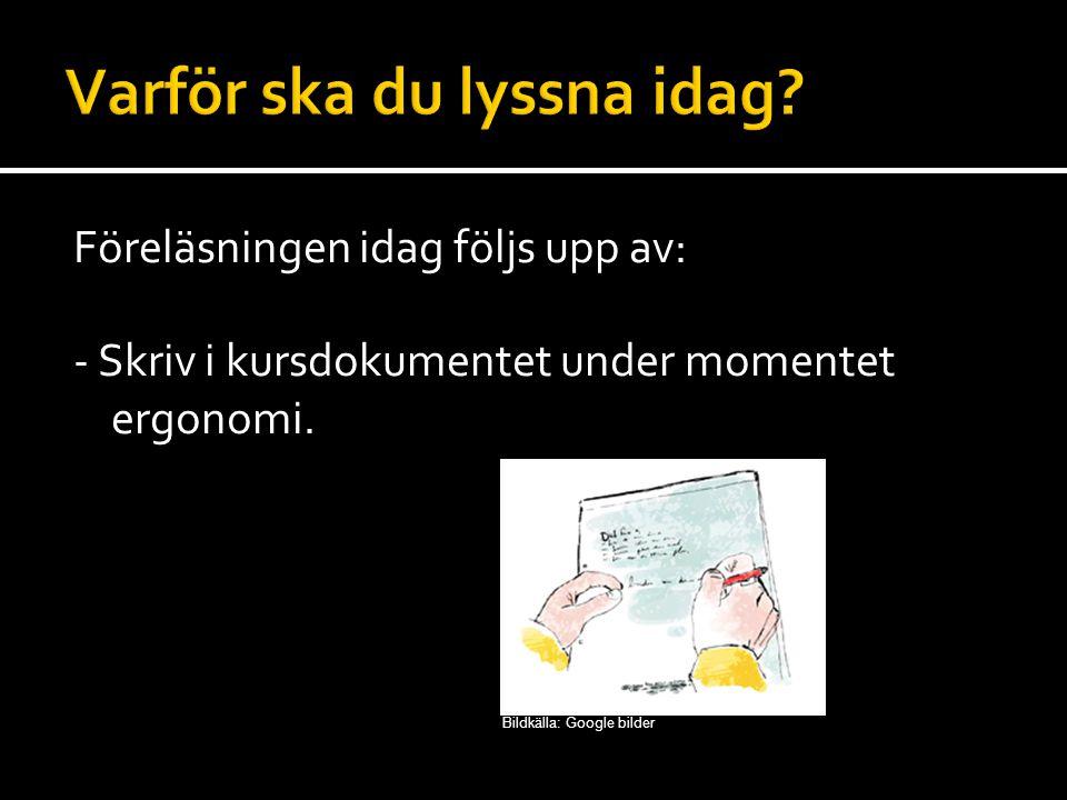 Teknisk arbetsmiljö: Ofta lätt att bedöma Är i regel mätbar Omfattar t.ex.