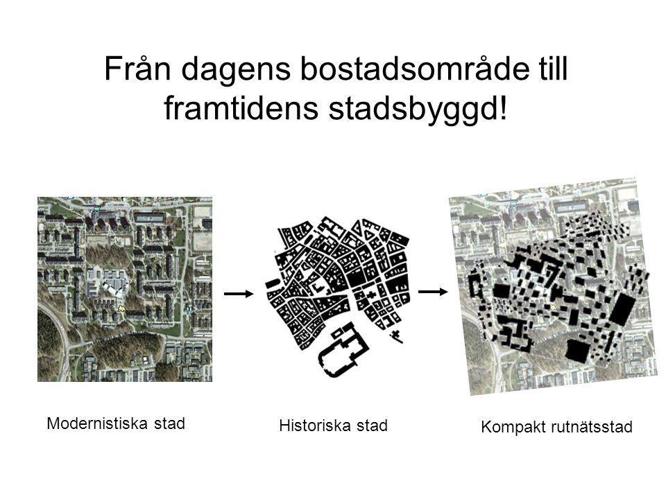 Från dagens bostadsområde till framtidens stadsbyggd.