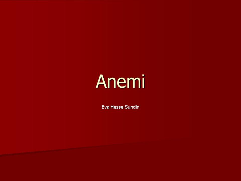 Anemi Om oklar anemi eller suspekt benmärgssjukdom: Om oklar anemi eller suspekt benmärgssjukdom: Utför benmärgspunktion/ (biopsi)