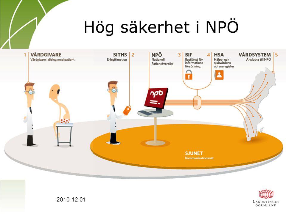 2010-12-01 Hög säkerhet i NPÖ