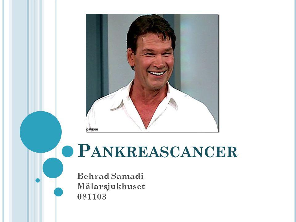 P ANKREASCANCER Behrad Samadi Mälarsjukhuset 081103