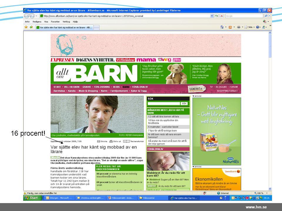 www.lvn.se 16 procent!