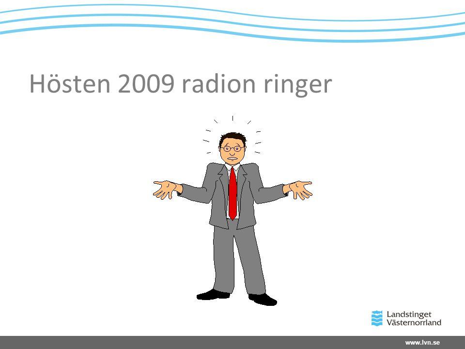 Hösten 2009 radion ringer