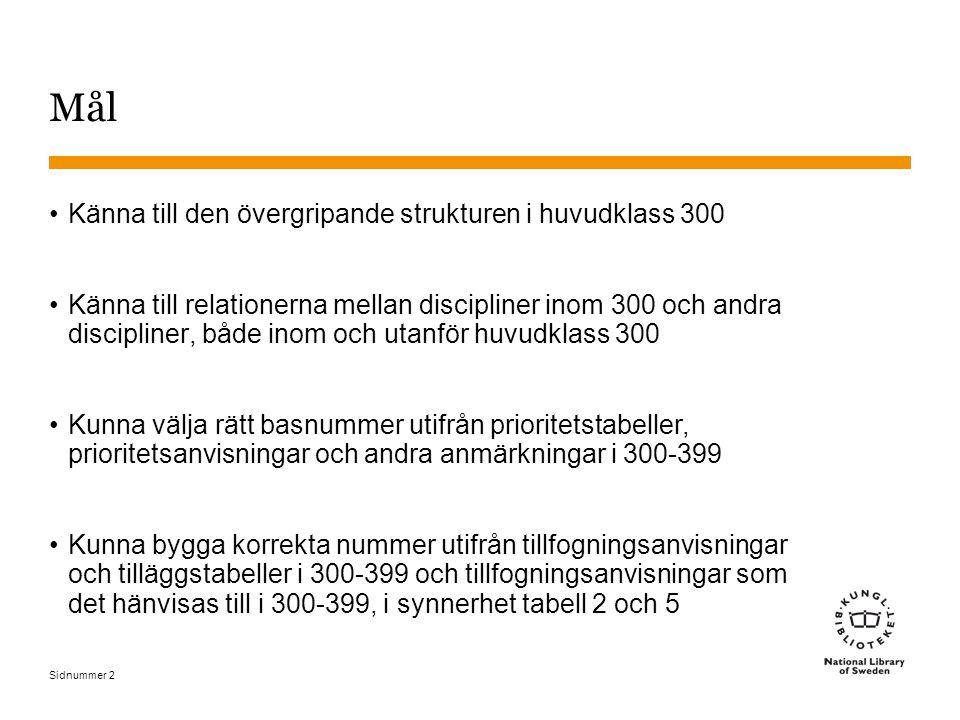 Sidnummer 63 Grupp 4: 370 Utbildning (5)  372.3-372.8 Primärutbildning (grundskoleutbildning) inom särskilda ämnen 372.3 Datorer, naturvetenskap, teknik, hälsa 372.4 Läsning 372.5 Skapande verksamhet och slöjd 372.6 Språkkunskaper (kommunikationsfärdigheter) 372.7 Matematik 372.8 Övriga ämnen Primärutbildningämne