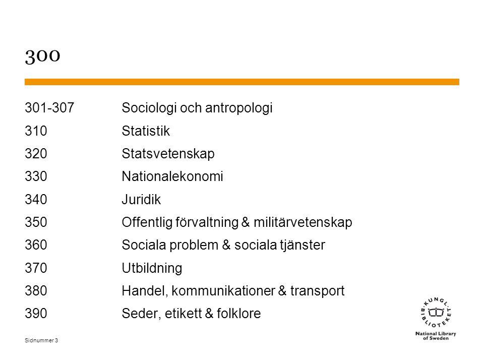 Sidnummer 300 Samhällsvetenskaper, sociologi & antropologi - 2011