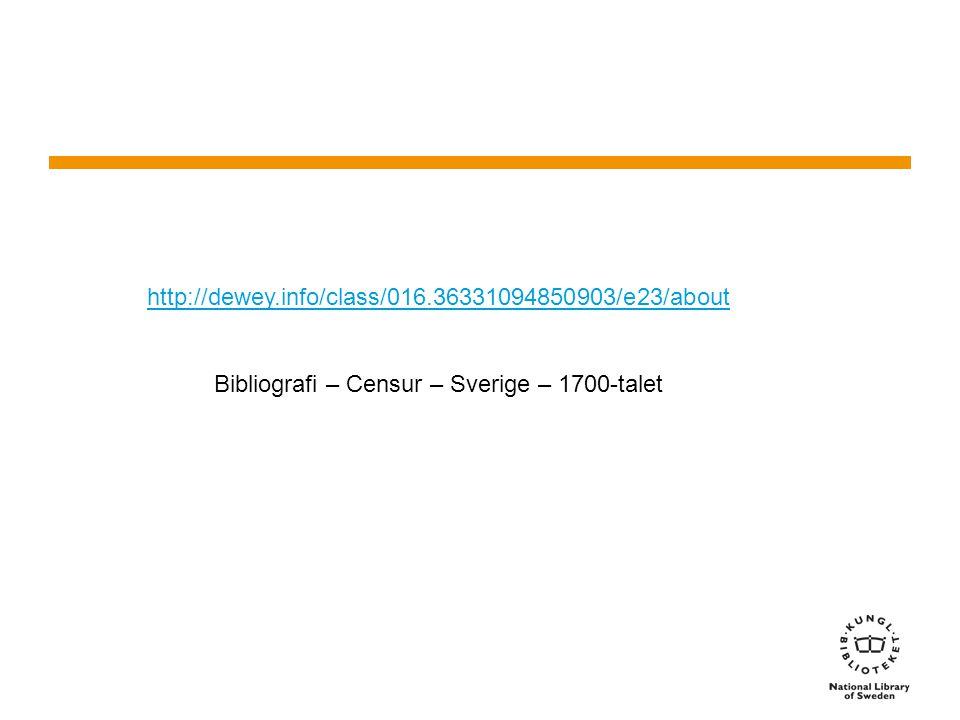 http://dewey.info/class/016.36331094850903/e23/about Bibliografi – Censur – Sverige – 1700-talet
