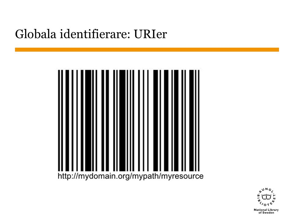 Globala identifierare: URIer
