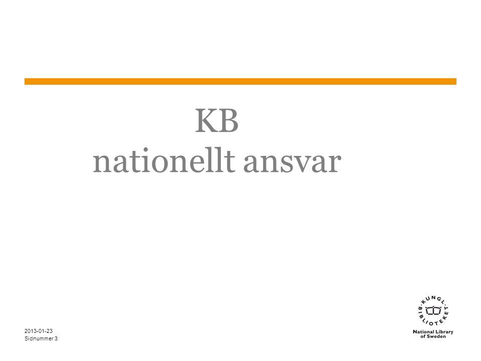 Sidnummer KB nationellt ansvar 2013-01-23 3