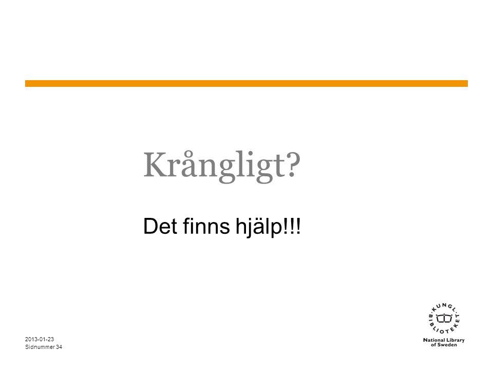 Sidnummer Krångligt Det finns hjälp!!! 2013-01-23 34