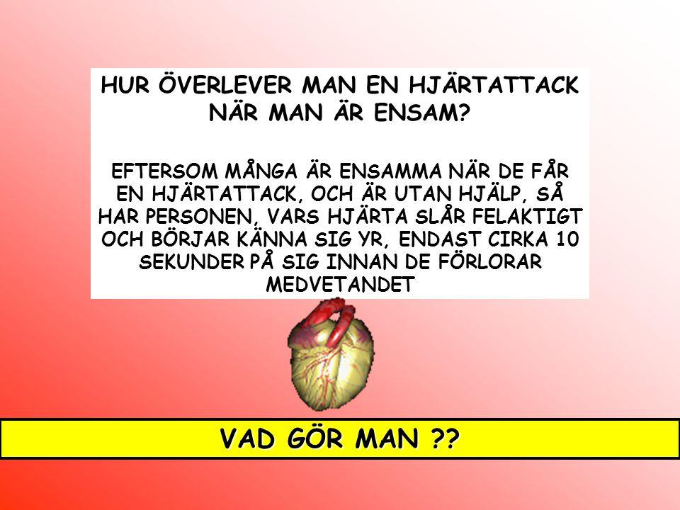 HUR ÖVERLEVER MAN EN HJÄRTATTACK NÄR MAN ÄR ENSAM.