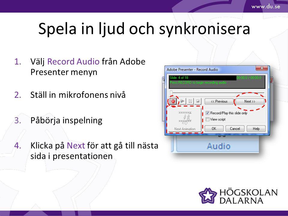 IKT-pedagogiskt centrum Hemsida: www.du.se/ikt E-post: ikt@du.se Telefon 023-77 87 87