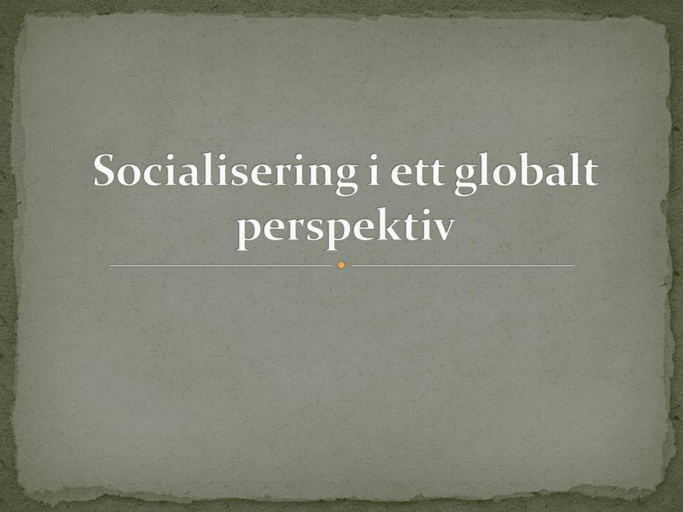 A.Mest centrala tankar i socialiseringsforskning B.