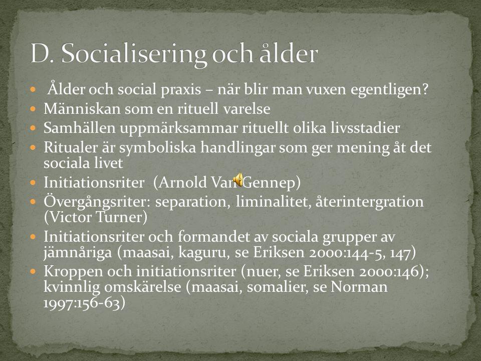 Ålder och social praxis – när blir man vuxen egentligen.