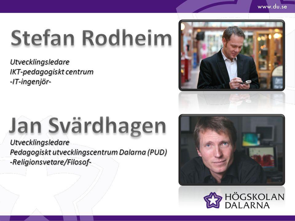 Utvecklingsledare IKT-pedagogiskt centrum -IT-ingenjör- Utvecklingsledare Pedagogiskt utvecklingscentrum Dalarna (PUD) -Religionsvetare/Filosof-