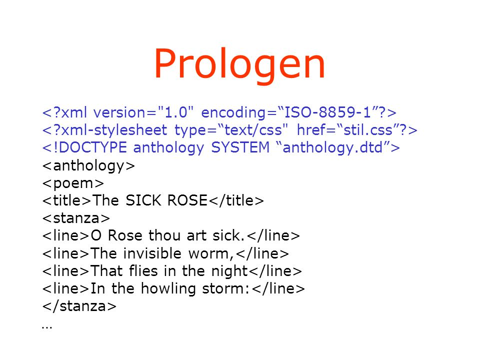 Prologen The SICK ROSE O Rose thou art sick. The invisible worm, That flies in the night In the howling storm: …