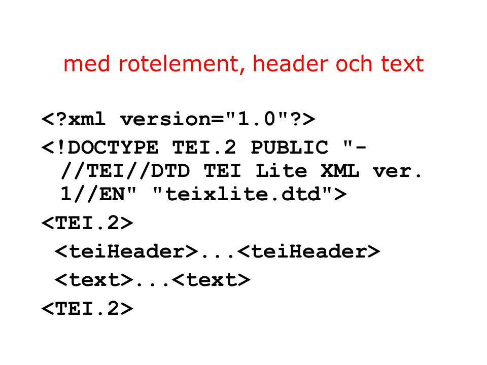 med rotelement, header och text...