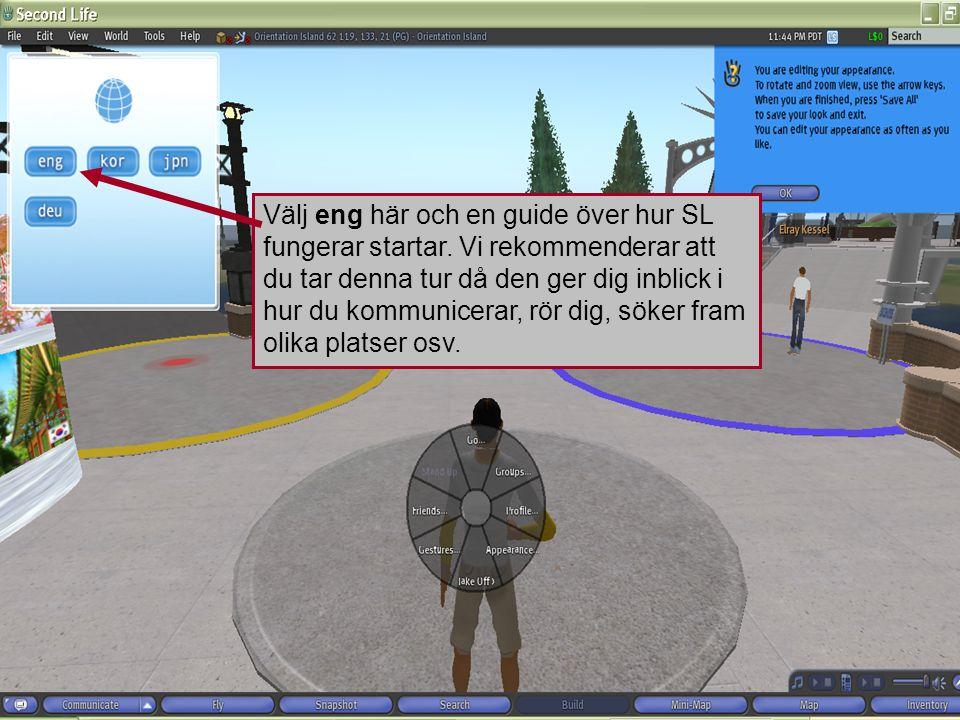 Välj eng här och en guide över hur SL fungerar startar.