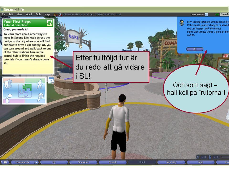 Efter fullföljd tur är du redo att gå vidare i SL! Och som sagt – håll koll på rutorna !