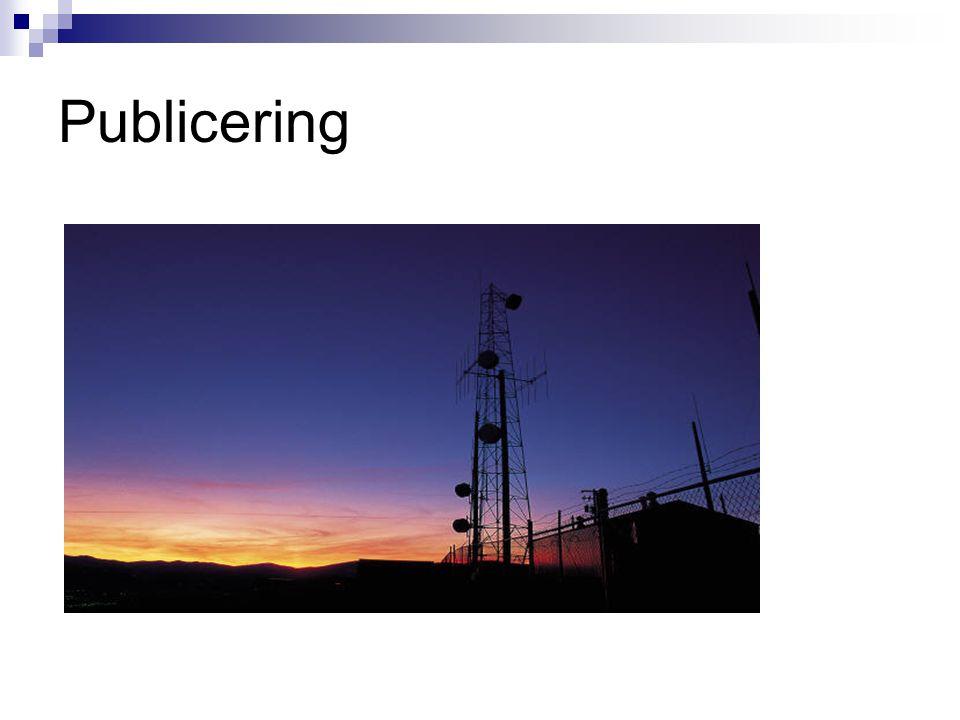 Publicering