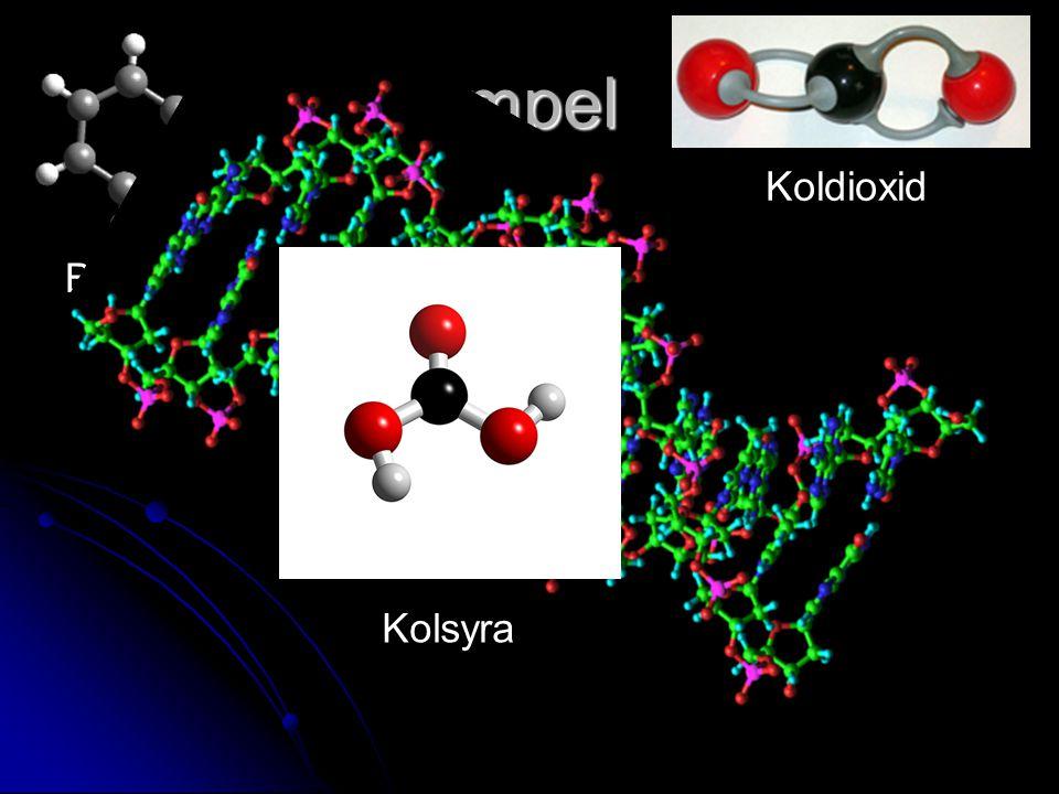 Exempel Bensen Koldioxid Kolsyra