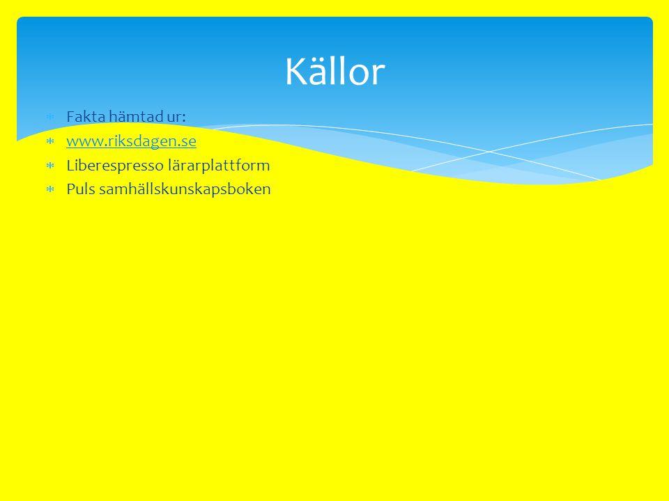  Sverige har ett proportionellt valsystem. Det betyder att om ett parti får 20 % av rösterna i riksdagsvalet får det också 20 % av platserna i riksda