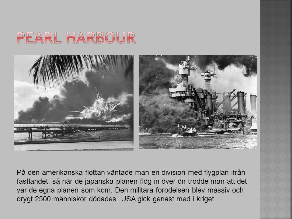 På den amerikanska flottan väntade man en division med flygplan ifrån fastlandet, så när de japanska planen flög in över ön trodde man att det var de