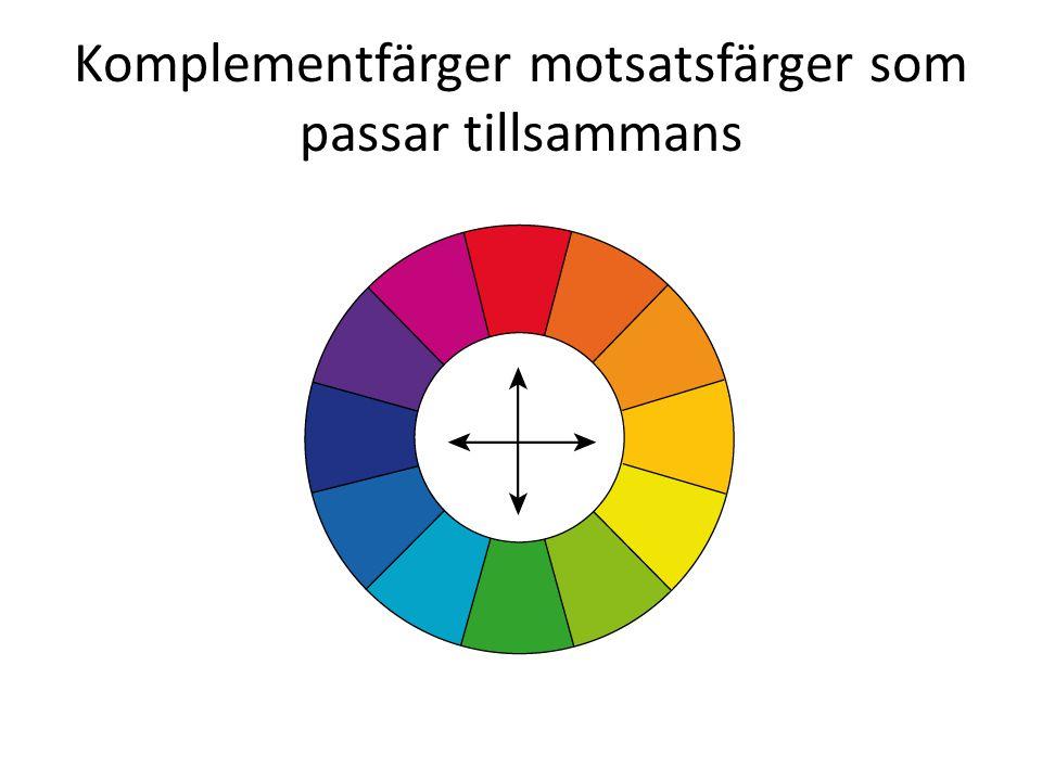 Komplementfärger motsatsfärger som passar tillsammans