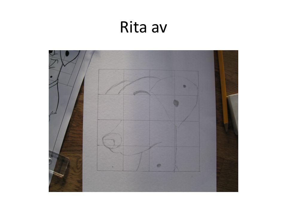 Rita en ram runt den bild du vill rita av. Rita ramen så nära bilden som möjligt.