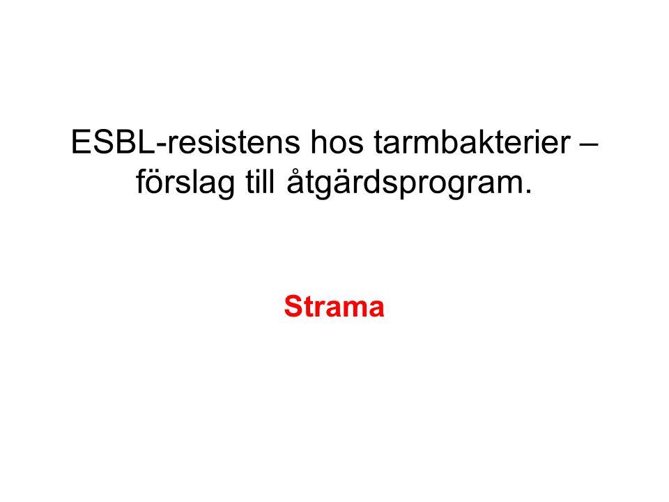 ESBL-resistens hos tarmbakterier – förslag till åtgärdsprogram. Strama